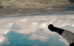 Первый в мире прыжок с дрона