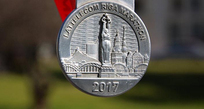 Медаль участника Рижского марафона