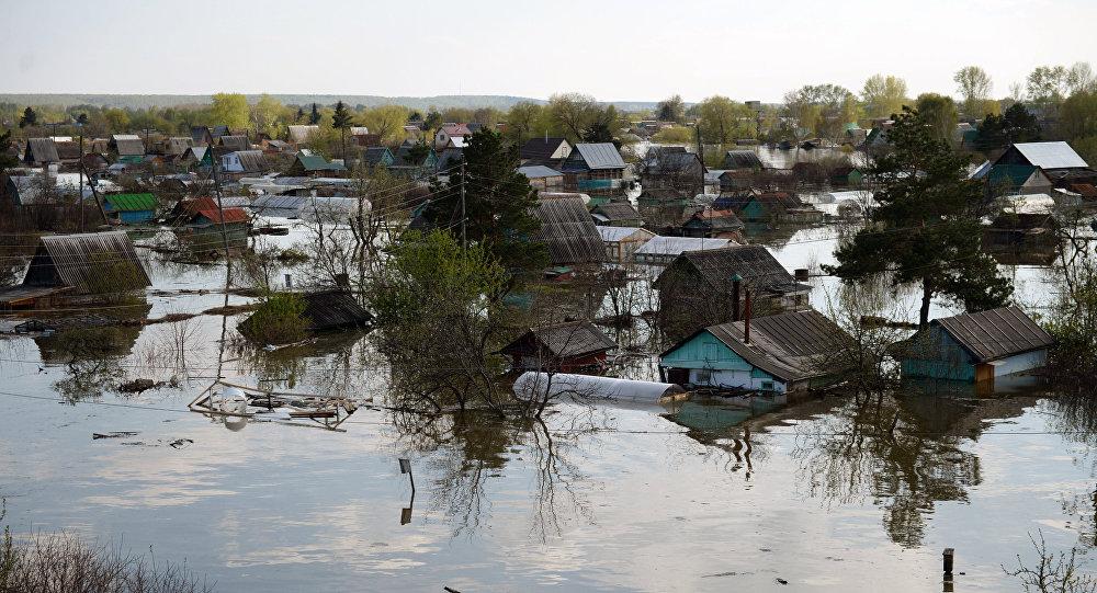 Plūdi Tjumeņas apgabalā. Foto no arhīva