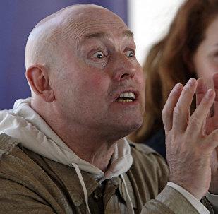 Актер Виктор Сухоруков на пресс-конференции накануне спектакля Тартюф