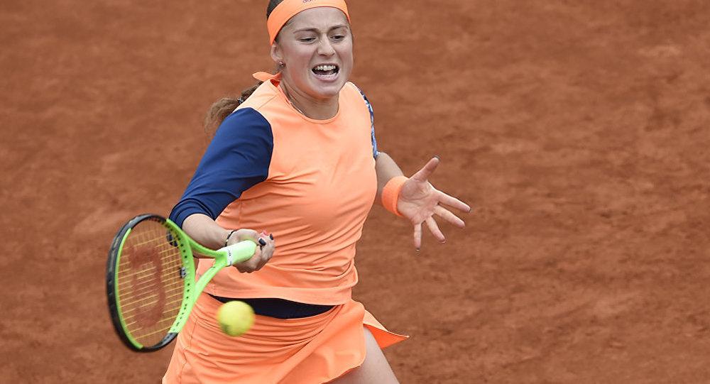 Латвийская теннисистка Елена Остапенко, архивное фото