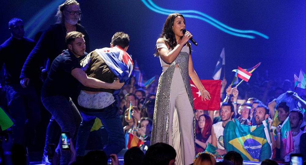 Украинская певица Джамала во время финала конкурса песни Евровидение 2017