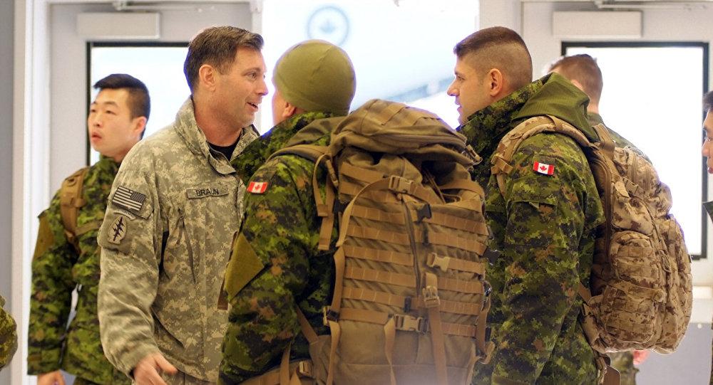 Kanādas karavīri. Foto no arhīva