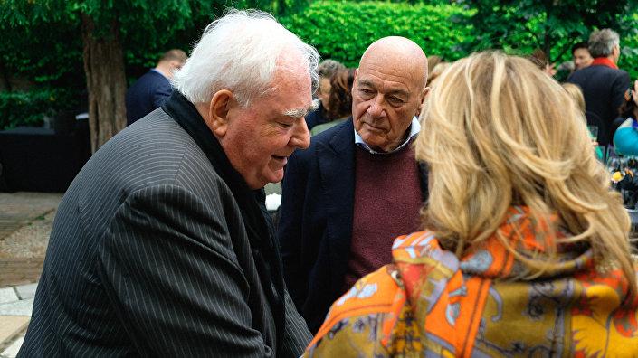 Владимир Познер на презентации 1-й Рижской биеннале современного искусства