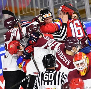 Хоккей. Чемпионат мира. Матч Россия - Латвия