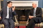 Встреча Павла Климкина с Майклом Пенсом в Белом Доме