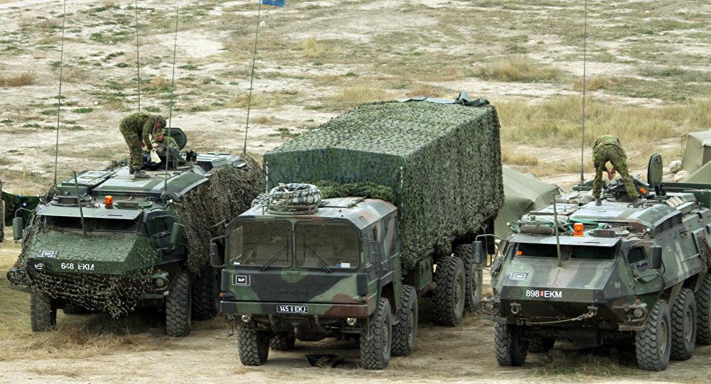 Igauņu karavīri mācībās Trident Juncture. Foto no arhīva