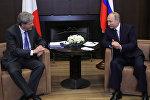Президент РФ Владимир Путин и председатель Совета министров Италии Паоло Джентилони