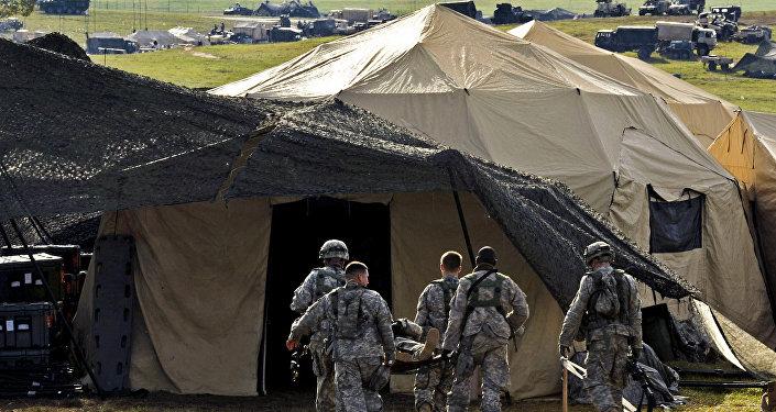Военный лагерь, архивное фото