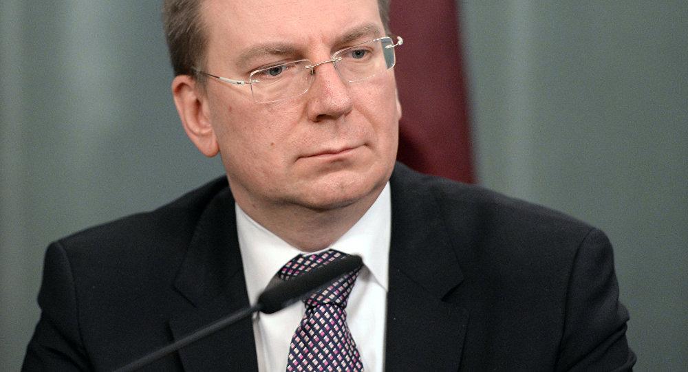 Глава МИД Латвии Эдгарс Ринкевичс, архивное фото