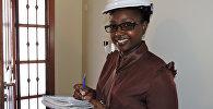 Viesstrādniece. Foto no arhīva