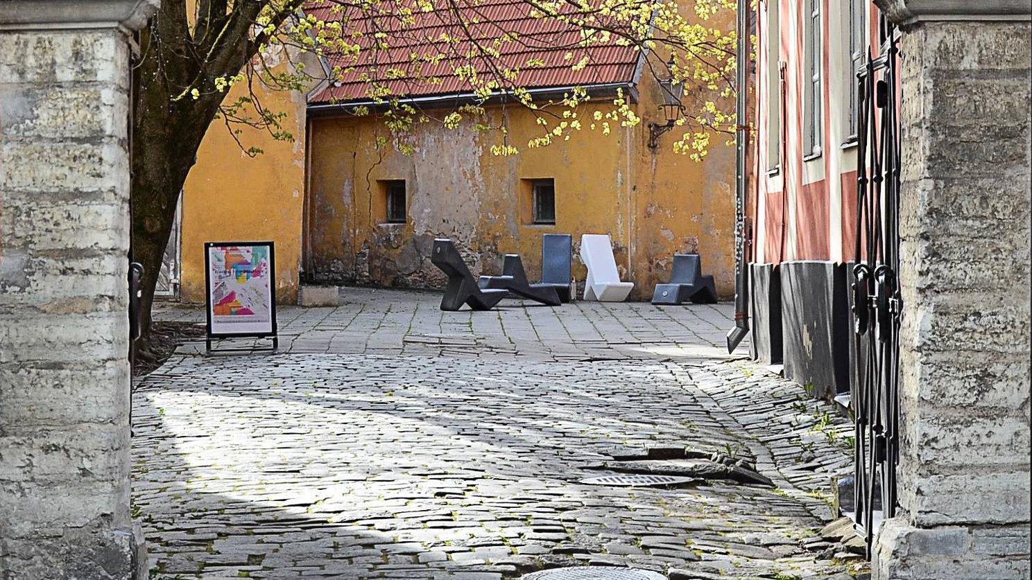 Уютный дворик Таллина