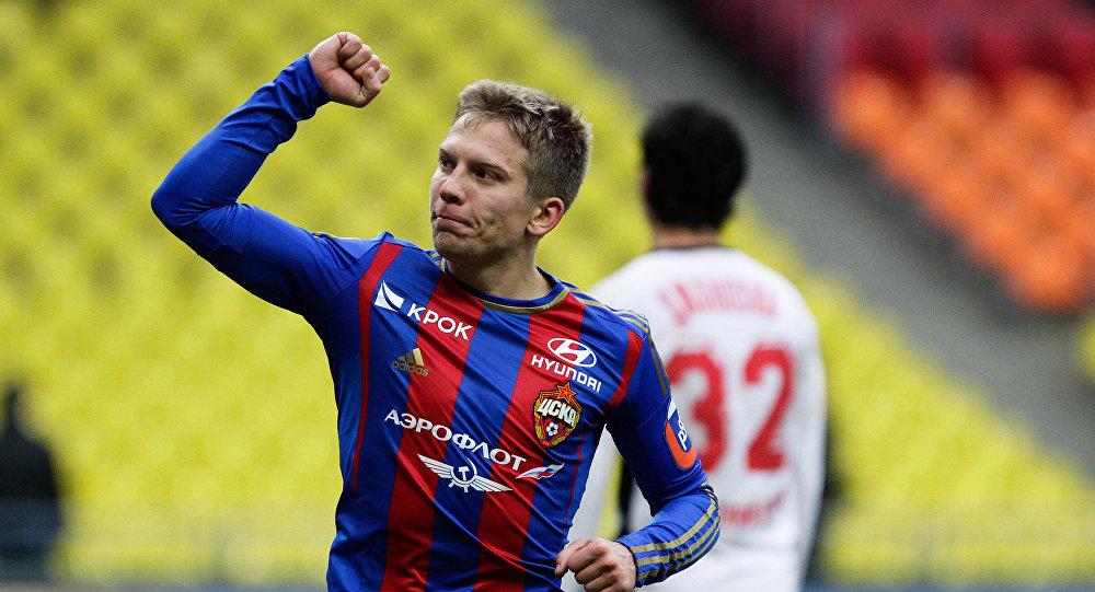 CSKA pussargs Aleksandrs Cauņa. Foto no arhīva