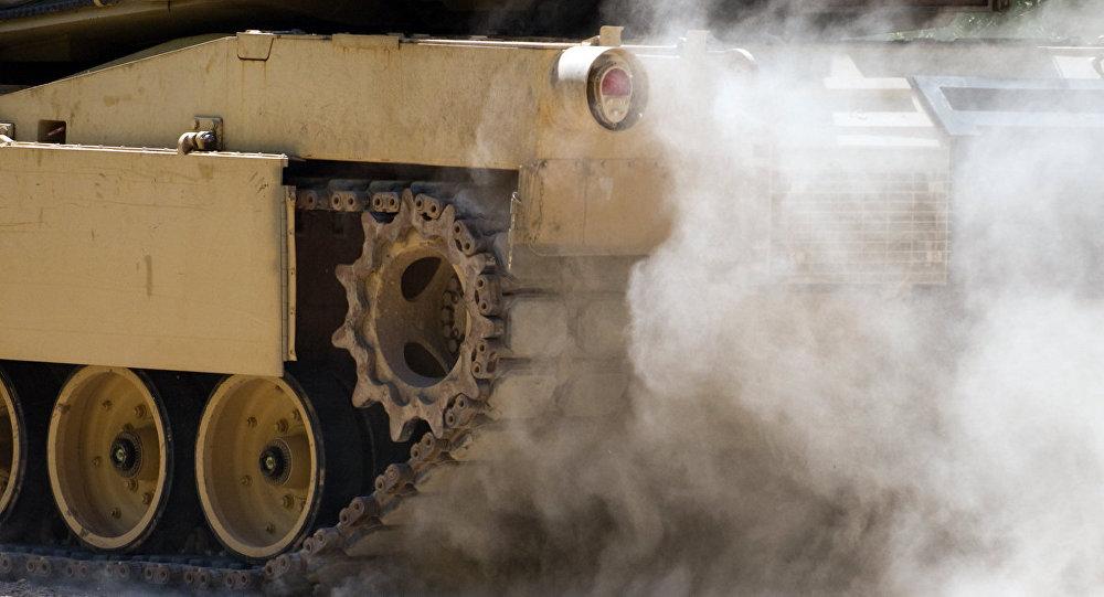 Танк M1A1 Abrams на учениях Saber Strike