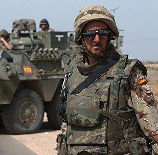 Spānijas karavīrs. Foto no arhīva