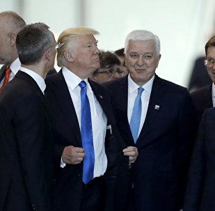 ASV prezidents Donalds Tramps NATO samitā Briselē