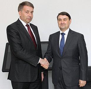 Встреча министра сообщения Улдиса Аугулиса с помощником президента России Игорем Левитиным
