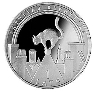 Монета счастья Банка Латвии