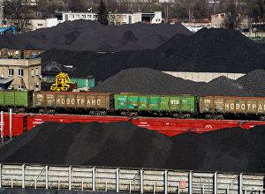 Ogļu pārkraušana Rīgas ostā