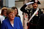 Канцлер ФРГ Ангела Меркель на саммите Большой семерки в Таормине, Италия, 26 мая 2017 года