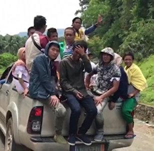 Эвакуация мирного населения на Филиппинах