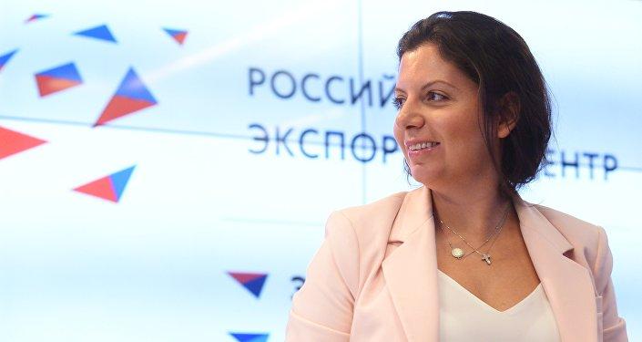 Telekanāla RT un aģentūras Sputnik galvenā redaktore Margarita Simoņana