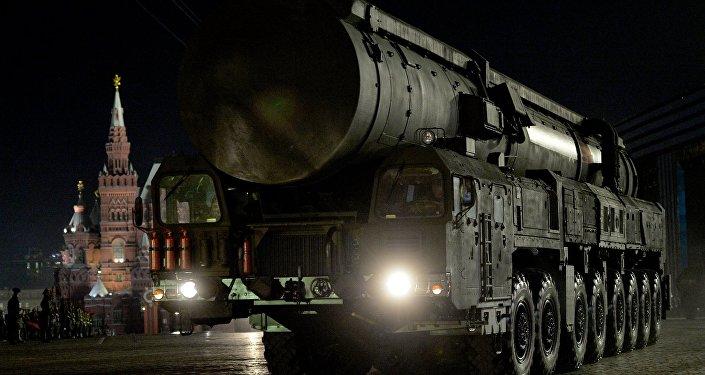 Starpkontinentālā ballistiskā raķete. Foto no arhīva