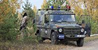 Машина военной полиции Латвии