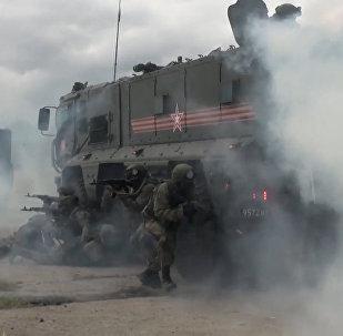 Militārajās mācībās Habarovskā izmantotas bruņumašīnas Taifun
