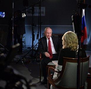 Krievijas prezidents Vladimirs Putins sniedz interviju televīzijas kanālam NBC