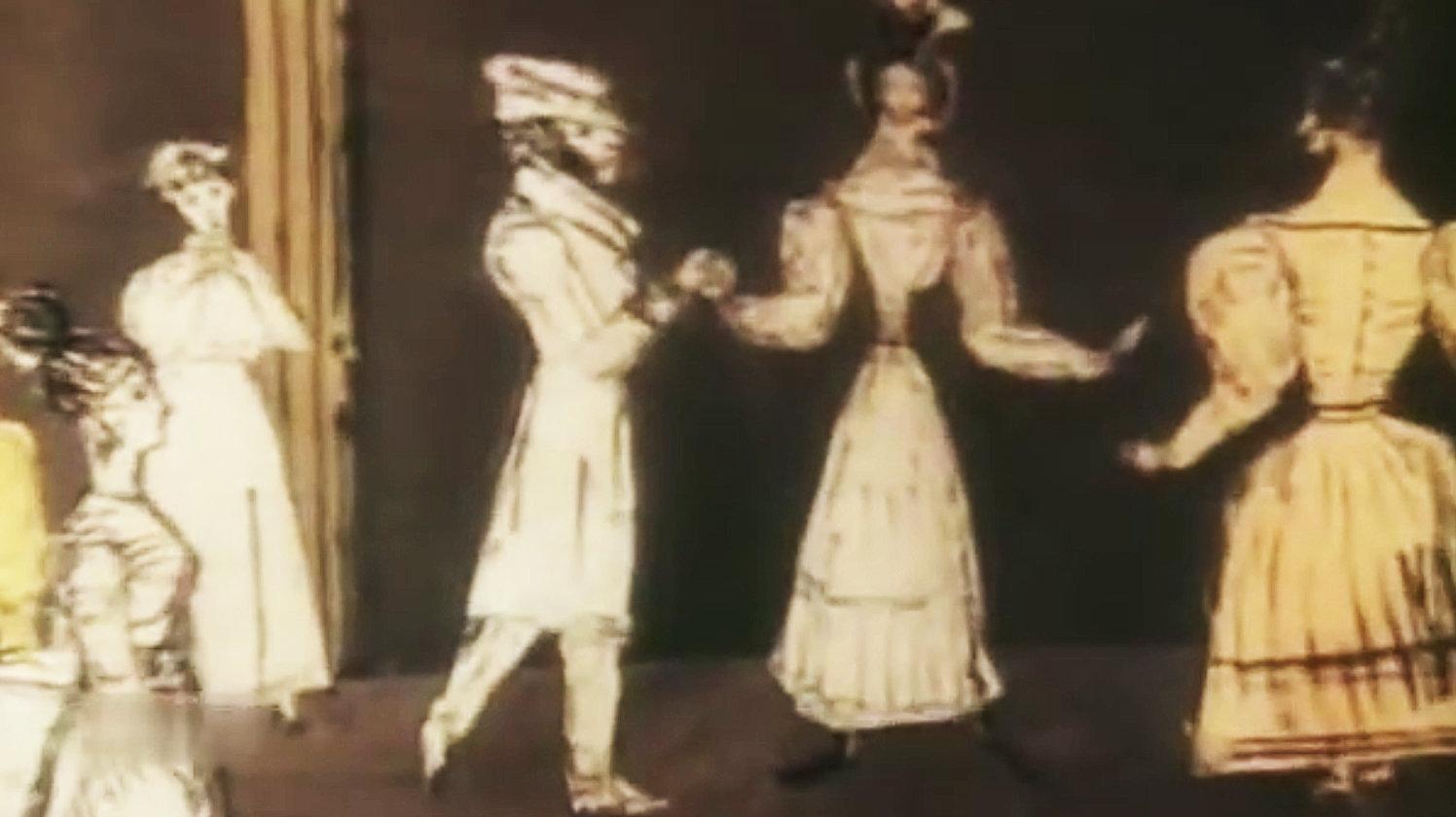 Скриншот  мультфильма Осень Андрея Хржановского