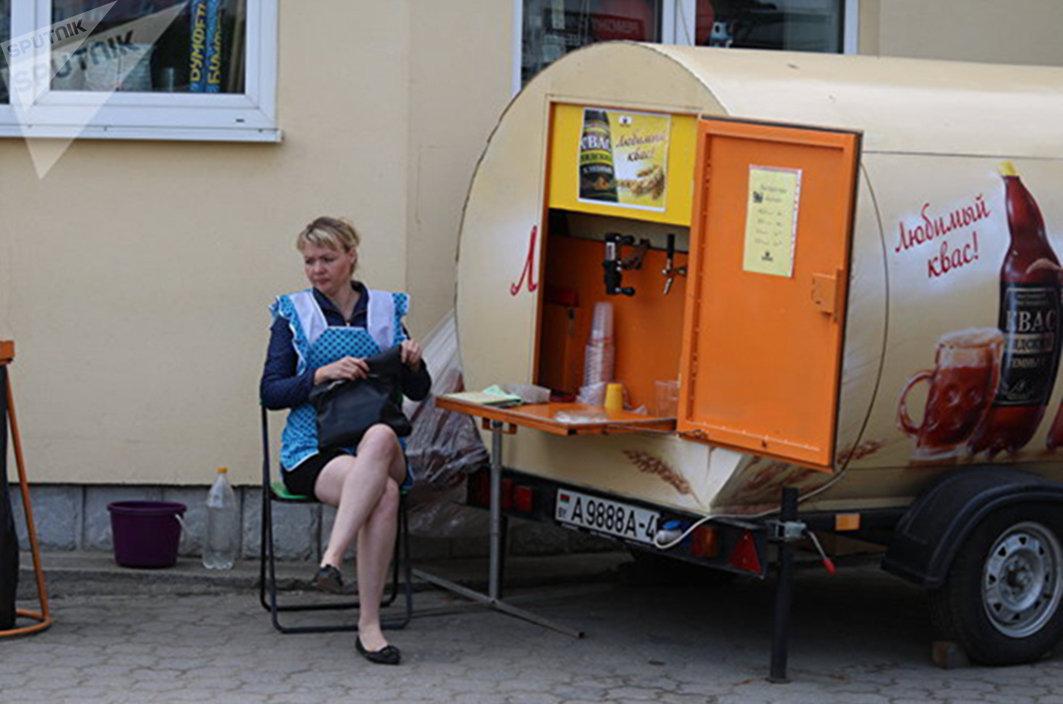 Лидский квас продают на улицах города - ностальгический привет