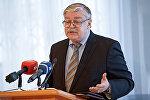 Посол РФ в Латвии Евгений Лукьянов, пресс-конференция