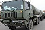 Прибытие в Латвию испанской военной техники