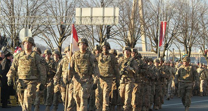 Kanādas karavīri Latvijā. Foto no arhīva
