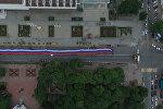 Гигантский флаг РФ в Ростове-на-Дону