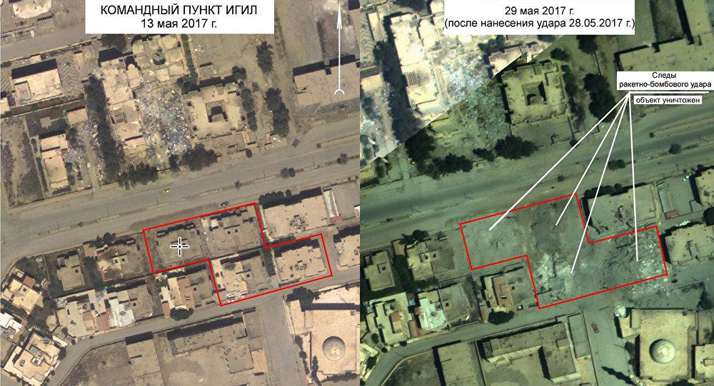 Krievija publicējusi Sīrijā iznīcināta ISIS komandpunkta fotogrāfiju