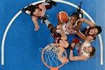 Женская сборная Латвии играет с Черногорией на Чемпионате Европы 2017