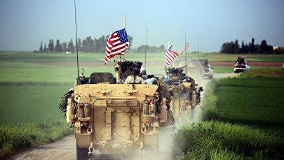 ASV milirārās tehnikas dislokācija Sīrijā. Foto no arhīva