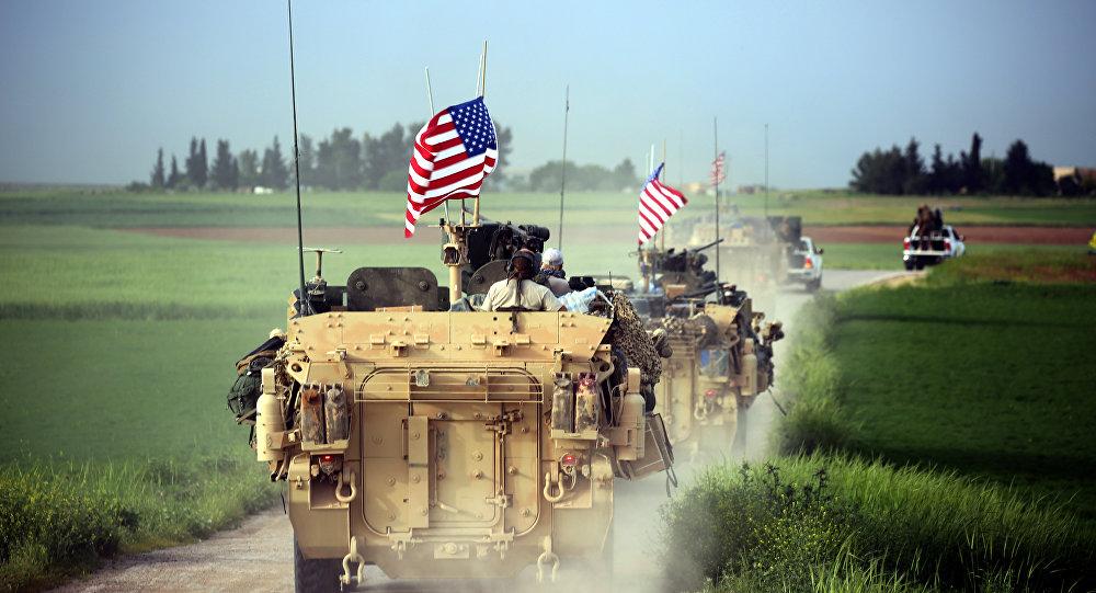 ASV militārās tehnikas dislokācija pie Darbasijas ciema Sīrijā