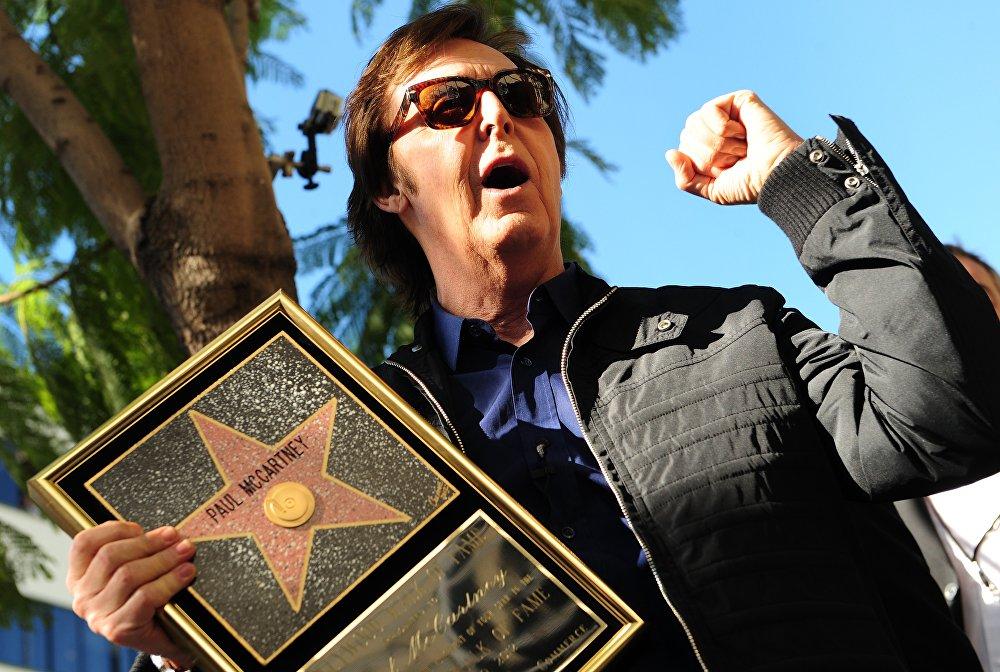 Пол Маккартни получает звезду на Голливудской Аллее славы, 2012 год