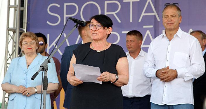 На церемонии открытия присутствовала также посол Франции в Латвии Одиль Супизон