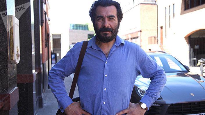 Олег Хилл на лондонской улице