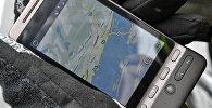 Google maps на экране мобильного телефона