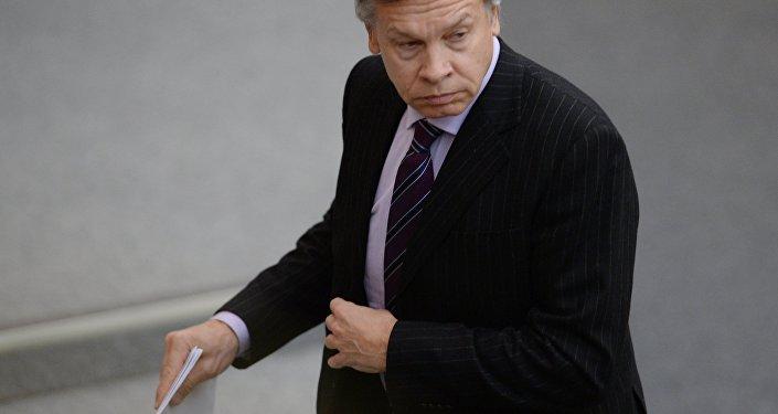 Krievijas Valsts domes deputāts Aleksejs Puškovs