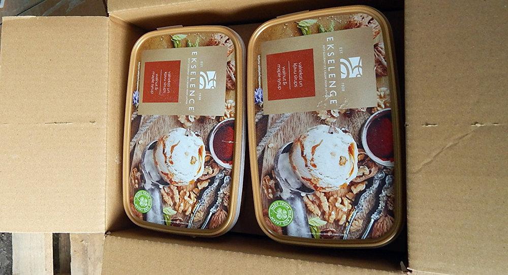 Latvijas uzņēmuma ražotā saldējuma partijas aizturēšana