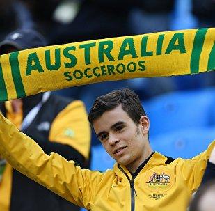 Болельщик сборной Австралии во время матча Кубка конфедераций-2017 по футболу между сборными Камеруна и Австралии
