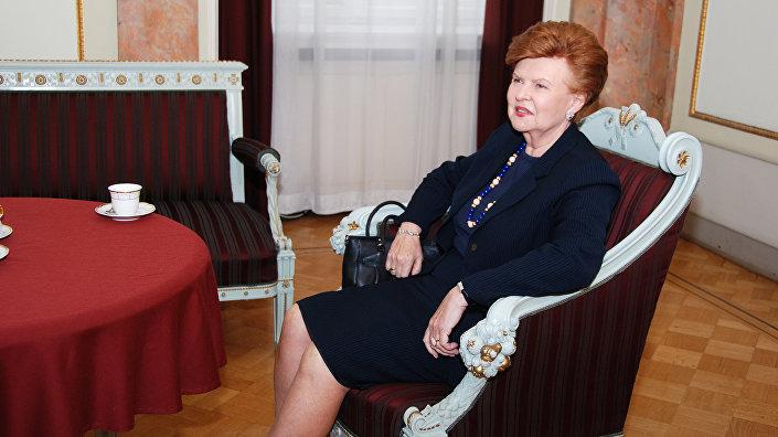 Экс-президент Латвии Вайра Вике Фрейберга, архивное фото