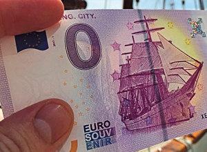 Купюра номиналом ноль евро