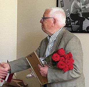 Gruzijas vēstnieks Latvijā Teimurazs Džandžalija un Raimonds Pauls